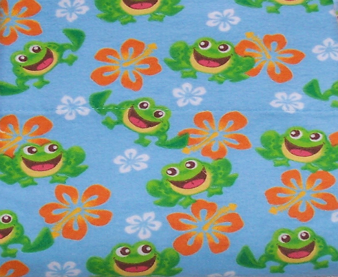 Hawaiian Frog Flannel Standard Pillowcase with a 4? Hem at Sears.com