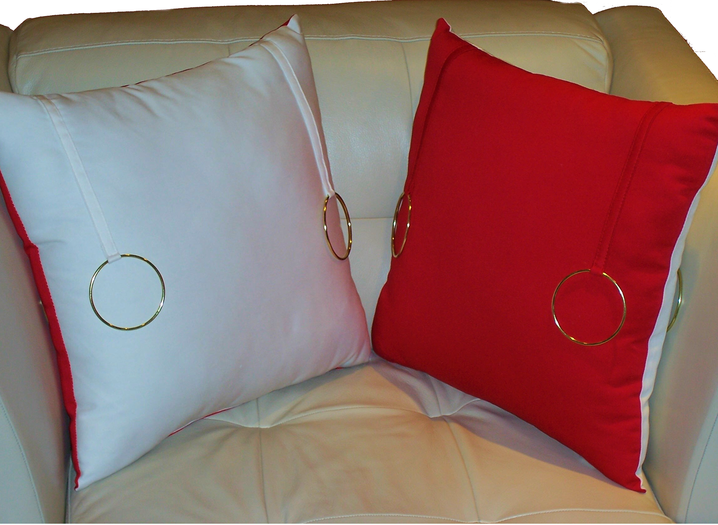 Red On White Accent Pillows 18 Size Fashion Home Products