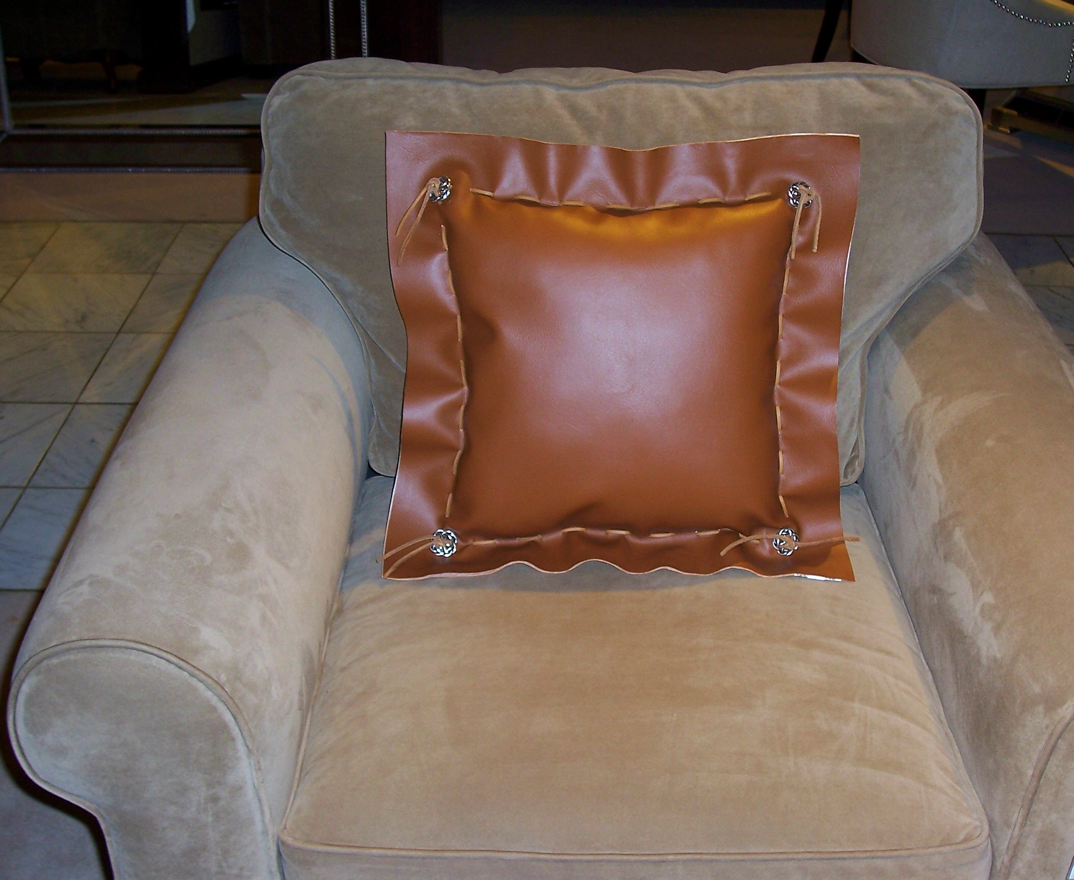 Vinyl Decorative Pillows : Faux Leather Vinyl Throw Pillows Fashion Home Products